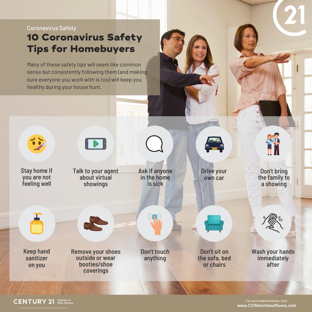 coronavirus safety tips for homebuyers