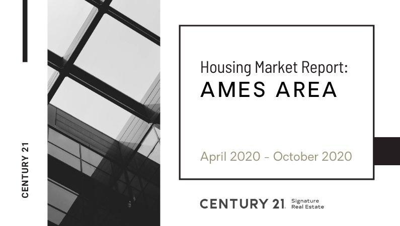 Housing Market Data Report for Ames: April 2020 – October 2020